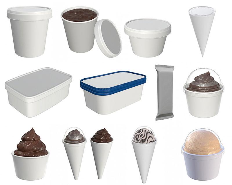 تولید کننده ظروف بستنی